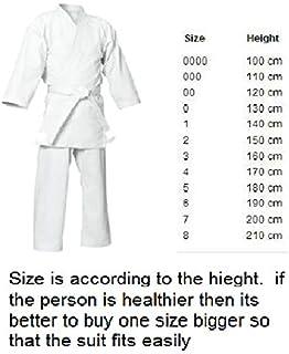 FEELiT Martial Arts - Karate Suits Karate Suit Size 3/ 160cm - Martial Arts GI Uniform - Unisex, Unisex-Adult, White, 3 /160cm