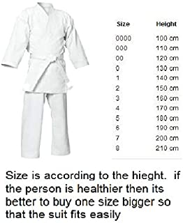 FEELiT Martial Arts - Karate Suits Karate Suit Size 5 /180cm - Martial Arts GI Uniform/Unisex, Unisex-Adult, White, 5 /180cm
