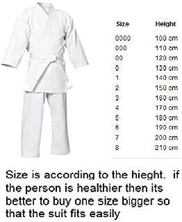 FEELiT Martial Arts - Karate Suits Karate Suit Size 000/ 110cm - Martial Arts GI Uniform - Unisex, Unisex-Adult, White, 000 /110cm