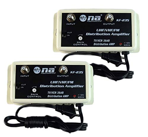 2 Pack 36 DB Cable Antenna Color TV Booster Signal Amplifier VHF UHF...