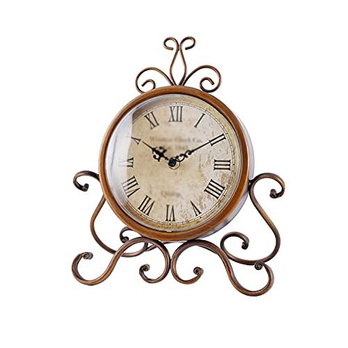 XBYUNDING Reloj Reloj Retro Reloj de Escritorio de Silencio aplicar a casa Sala de Estar Dormitorio decoración Escritorio Reloj Escritorio Adornos pequeño Escritorio Reloj 11.02 Pulgadas Despertador