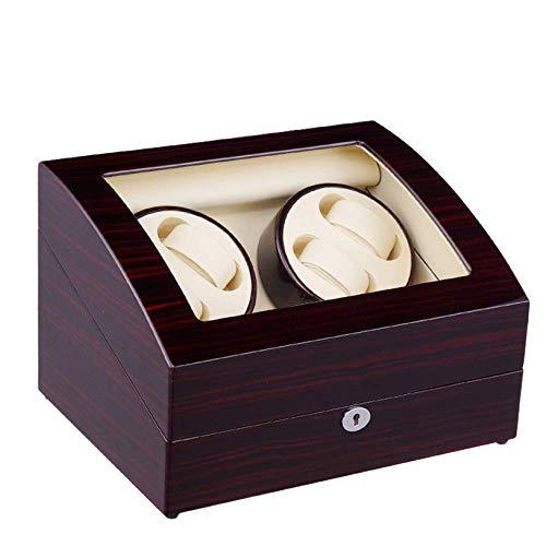 ZhenHe a Prueba de Polvo Mira enrollador for 2 Relojes automáticos Relojes Duradero Silencio Doble Watch Winder batería Enchufe de Doble propósito 5 Ajuste Modos Regalos para Hombres