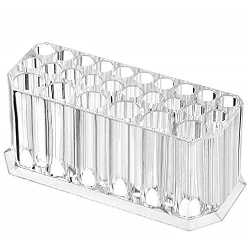 Transparente Acryl-Aufbewahrungsbox mit 26 Löchern für Lippenstift, Lidschatten und Eyeliner, für Augenbrauenstift, Schönheitspinsel