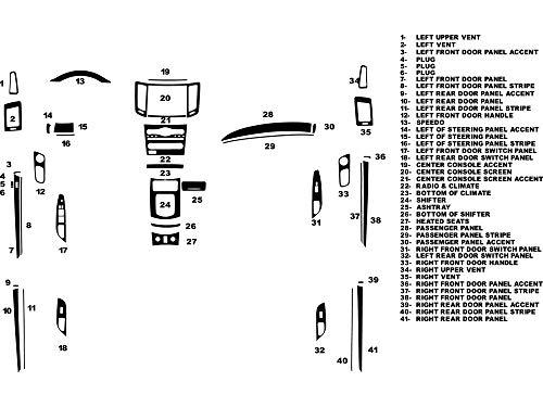 Rvinyl Rdash Dash Kit Decal Trim for Infiniti G37 2010-2013 (Sedan) - Carbon Fiber 4D (Black) Carbon Fiber Interior Trim Applique