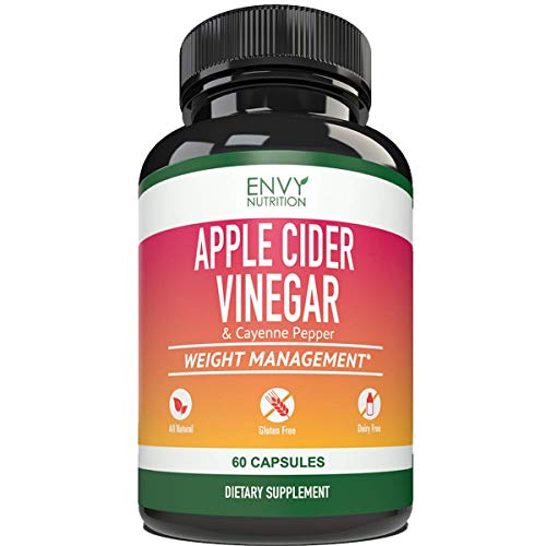 Apple Cider Vinegar Capsules - Supports Metabolism, Immunity, Gut Health, Blood Sugar Level and Heart Health - 60 Count