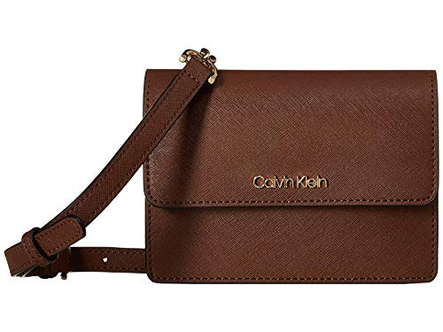 Make a pristine bag your go-to with the Calvin Klein® Hayden Saffiano Leather Crossbody bag. Made of leather. Flap with magnetic snap closure. Detachable, adjustable crossbody strap with chain detail. Signature logo hardware detail at front. Lined in...