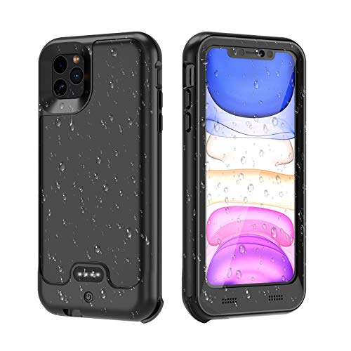 Metal Waterproof Battery Case Compatible with iPhone, IP67 Waterproof Charger Case with Full Body Protection High Capacity Charging Case, 130% Extra Battery Life (4800mAh for iPhone Xs Max)