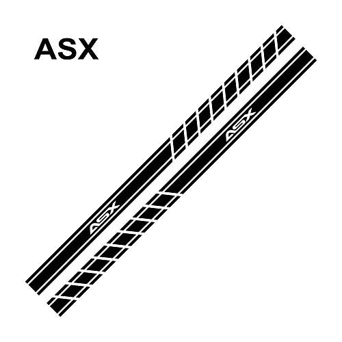 Wven 2 STÜCK Auto Seitenfenster Aufkleber Zum Mitsubishi Lancer 10 3 9 EX Outlander 3 ASX L200 Ralliart Competition,ASX