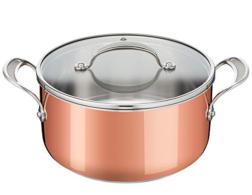 Tefal Jamie Oliver Triply Copper Cooking Pot Stainless Steel/Aluminium/Copper