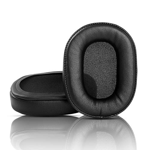 Ersatz-Ohrpolster kompatibel mit August EP650 EP 650 Ohrpolster Headset, Schwarz, 1 Paar