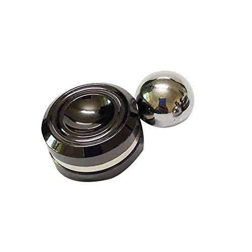 Zzx Neue Fidget Spinner Spielzeug Erwachsene Antistress Magnetic Metall speiner Ball Stress Reliever künstliche satellit Hand Spinner Stress Spielzeug (Color : Black)