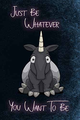 Just Be Whatever You Want To Be: Funky Tapir Chubby Unicorn Notebook for Malayan Tapir Lovers