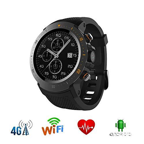 HFJ&YIE&H Smartwatch MTK 6739 GPS Bluetooth W-LAN Smartwatch Puls mit Kamera IP67 wasserdicht 4G 530mAh 1 + 16 GB Telefon-Schrittzähler für MI8 iOS Android 7.1