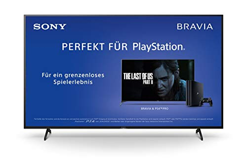 Sony KD-65XH8096 Bravia 164 cm (65 Zoll) Fernseher (Android TV, LED, 4K Ultra HD (UHD), High Dynamic Range (HDR), Smart TV, Sprachfernbedienung, 2020 Modell) Schwarz