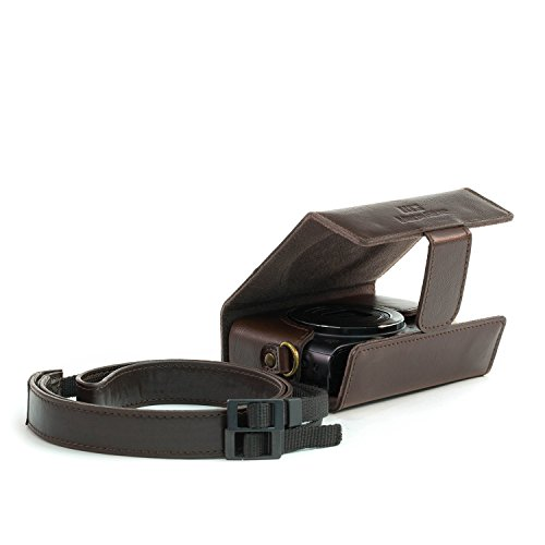 MegaGear 'Ever Ready' Camera Case, Bag for Canon PowerShot G9 X Mark II, G9 X Digital Camera (Dark Brown, PU Leather)