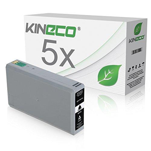 5 Tintenpatronen kompatibel zu Epson T7891 XL für Epson Workforce Pro WF-5110DW, WF-5190DW, WF-5620DWF, WF-5690DWF, WF-5100 Series, WF-5600 Series - Schwarz je 77ml
