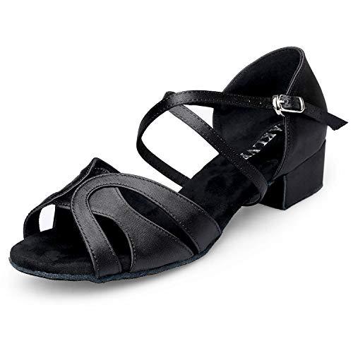 EAKLVB Low Heels Ballroom Dance Shoes Women, Latin Salsa Bachata Practice Performance Dance Shoes