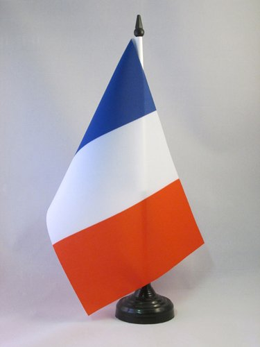 AZ FLAG TISCHFLAGGE Frankreich 21x14cm - FRANZÖSISCHE TISCHFAHNE 14 x 21 cm - flaggen