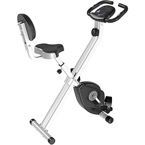 Songyusen Bicicletas de ejercicio, Bicicletas de ejercicio, Bicicletas de ejercicio de resistencia magnética, Bicicletas estáticas plegables, Monitores LCD, Monitores de frecuencia cardíaca-A9