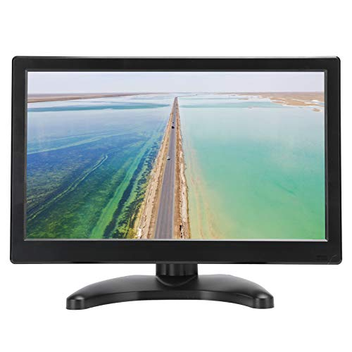 Monitor IPS Full HD de 11,6 pulgadas (1366x768P) - Monitor portátil Monitor plano Monitor HDMI ultrafino Pantalla VGA con base y control remoto para uso doméstico, oficinas y viajes (Negro)(EU)