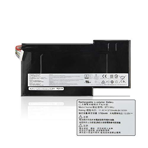 K KYUER 5700mAh 64.98Wh BTY-M6J Batería del Ordenador Portátil para MSI GS63 GS63VR GS73VR 6RF016CN GS73 GS73VR 6RF 7RG 7RF Stealth Pro Series Gaming Laptop BTY-U6J Replacement Notebook Battery