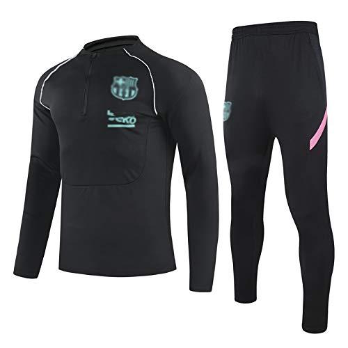 PARTAS Blaugrana Ḇḁṛcḁ Camisa atlética de Manga Larga para niños para niños Conjunto de Arriba y Abajo Fútbol Oficial de fútbol Niños Capacidad de Competencia, Ropa de Fan (Color : C, Size : 14#)