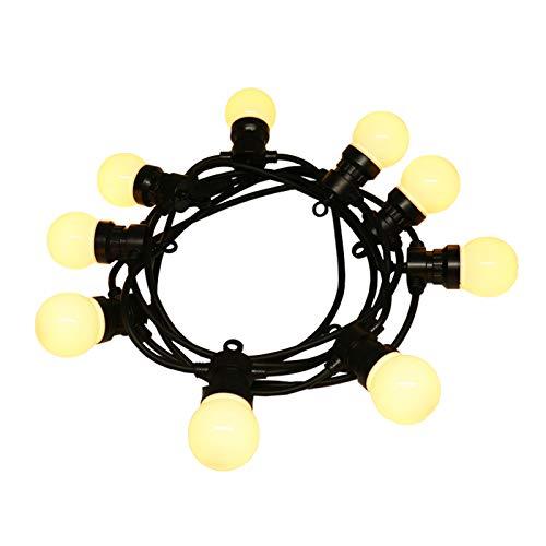Cadena De Bombillas, Se Puede Conectar A Lámparas Impermeables Al Aire Libre, Decoración Navideña De Jardín Y Luces De Decoración Navideña(Size:5m,Color:blanco)