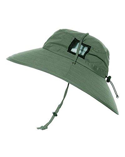 Sun Protection Zone Unisex Booney Hat, Lightweight, Adjustable, 100 SPF (Olive)