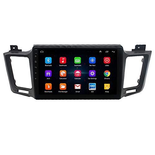 Amimilili 9 Pulgadas Autoradio Radio De CocheAndroid 9.0 para Toyota RAV4 2013-2017 GPS Sat Nav Soporte WiFi USB FM Mandos del Volante Manos Libres Bluetooth,8 Cores 4g+WiFi:2+32g