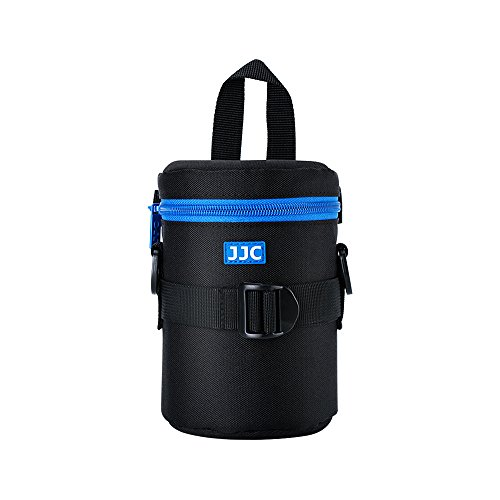 """JJC Deluxe Lens Case Pouch for Canon EF-S 18-135mm/17-55mm/17-85mm/55-250mm/24-70mm f4L,Nikon AF-S 18-200mm/18-105mm/100-300mm/55-200mm,Sony E 55-210mm and other Lens below 3.15"""" x 5.98""""(D x L)"""