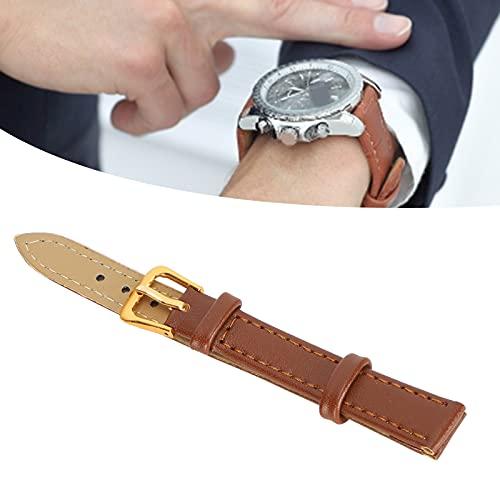 Aoca Correa de Reloj, cómoda Hebilla de Pasador Correa de Reloj Práctica Resistente Conveniente para reemplazo para Uso Profesional para Uso General para Reloj(12mm Brown)