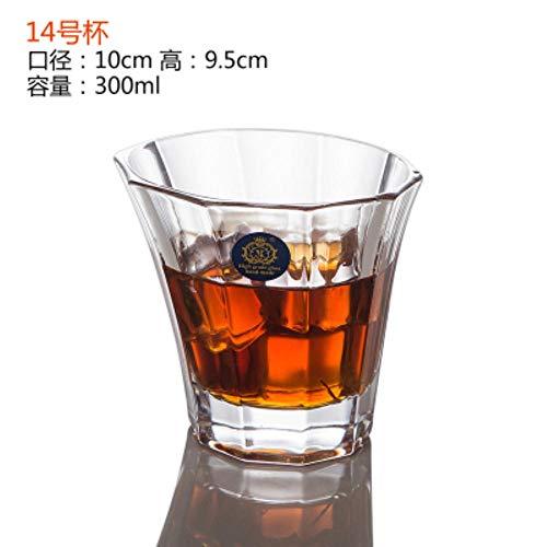 Wijnschaal 1 stuk creatieve mode hittebestendig glas mok transparant kristal wijn mokken whisky wodka bier drankje 201-300ml n