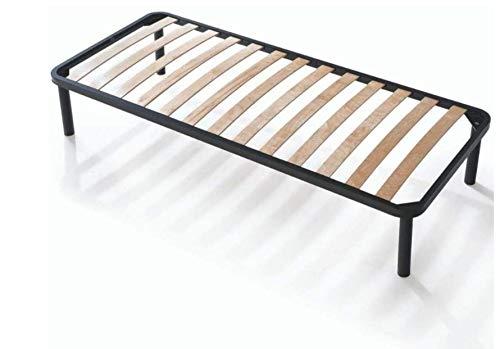 EvergreenWeb - Bett Lattenrost 90x200 hoch 35cm Orthopädische Leisten Extra Komfort aus Buche Holz Verstärkt mit 4 Füße Abnehmbar Rahmen aus Stahl Bettgestell für alle Betten und Matratzen Einzelbett