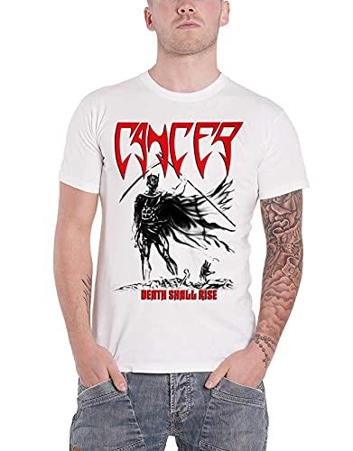 Cancer T Shirt Death Shall Rise Band Logo Death Metal New Mens White Men White 3XL