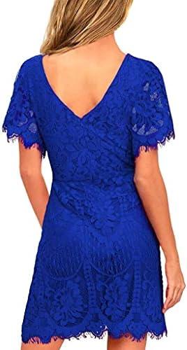 Royal blue dresses short _image3