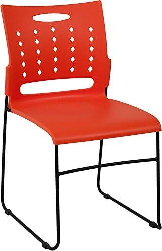 Hercules Series 881 lb. Capacity Orange Sled Great Rare interest Base wi Chair Stack