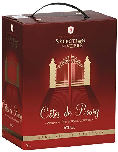 Vin Rouge - Sélection au Verre (3L) - AOP Côtes de Bourg - Bag in Box - Cépages: Cabernet Sauvignon, Merlot