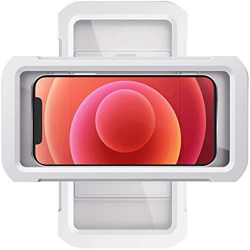 2021 Upgraded Oceavity Dusch-Handyhalter, wasserdicht, 360° drehbar, Spiegel/Wandhalterung, Handyhalter für Dusche, Badezimmer, Badewanne, Küche, Universal-Duschzubehör (weiß)