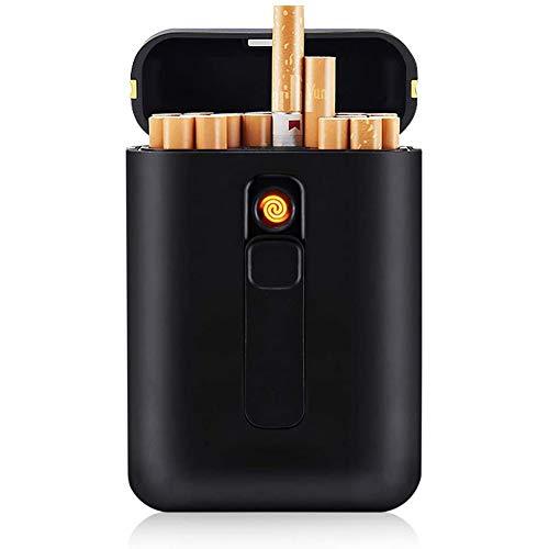 VIY Caja de Cigarrillo, con Encendedor, 20 Piezas de Cigarrillos Regulares, portátil,...