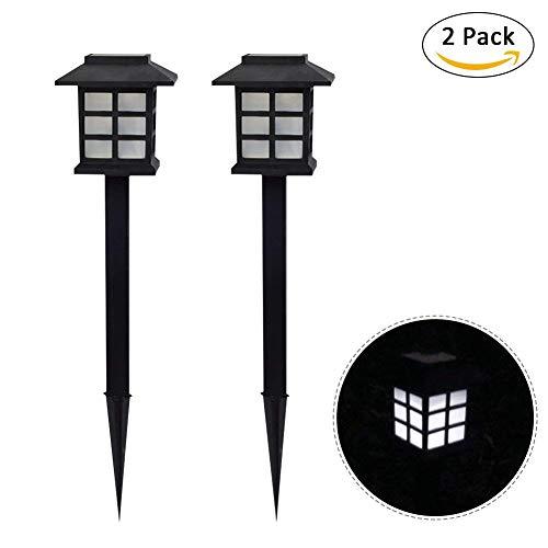 2 PCS/Set Solar-Rasen-Lampe LED-Palast Dekorative Licht Kleine Zimmer Typ PEG Spike Light Lantern (Weißes Licht)