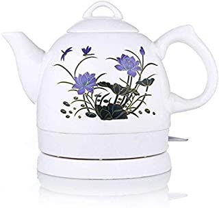 Chen Kettle Electric Kettle Chinese Ceramics Stainless Steel Classical Chinese Lotus Watercolor Drawing Energy Saving 1L 15 18 26cm Easy to move