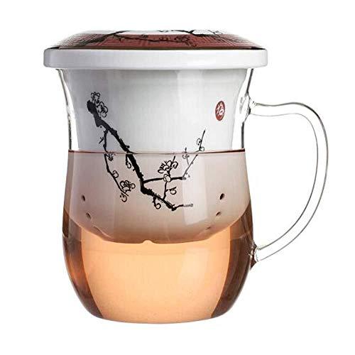 W-SHTAO L-WSWS Tetera, Resistente al Calor, Taza de Cristal, Bone China Taza, Taza de café con Tapa, Copa de Oficina, Filtro de Kung Fu de la Copa
