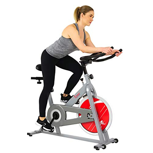 Sunny Health & Fitness Spin Bike Indoor Cycling...