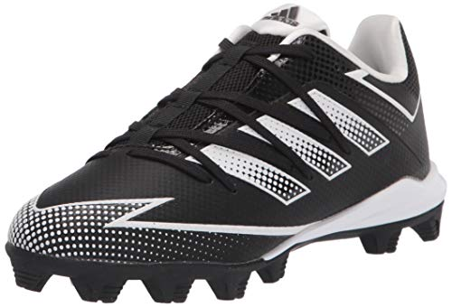 adidas EG7624 Baseball Shoe, Black/White/Black, 2.5 US Unisex Little Kid