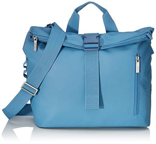 BREE Unisex-Erwachsene PNCH 722 Messenger Bag S Umhängetasche, Blau (Provincial Blue), 12x36x33 cm