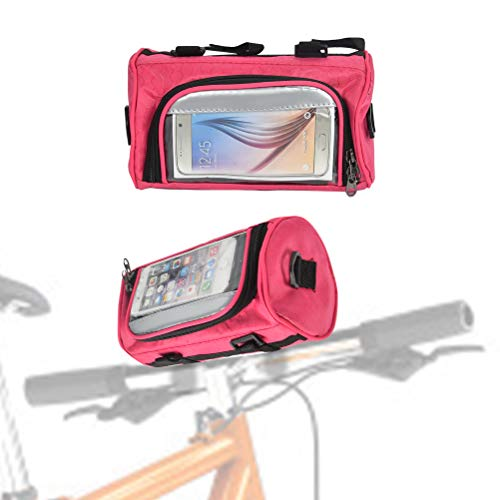 DODUOS Radfahren Fahrrad Lenkertasche Fahrrad Fronttasche Rahmentasche Fahrradtasche Lenker mit Wasserdichtem Touchscreen Fahrrad Fronttasche für Alle Fahrradtypen (Rose)