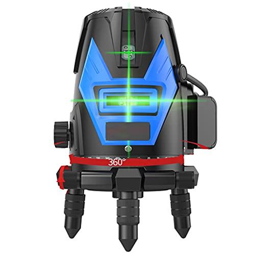 SXTYRL Nivel láser, Verde Línea, Línea De Rayo láser, Horizontales Verticales, Láseres, Usado para Interiores, Recargable, Batería (Color : Black)