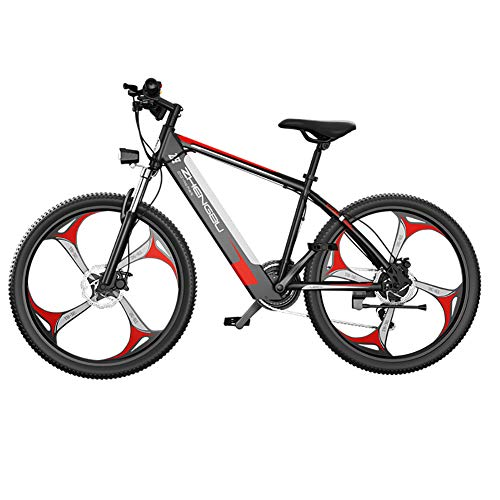 SXZSB Bicicleta Eléctrica De Montaña, Bicicletas Eléctricas 26' Pulgadas, Bicicleta Eléctrica con Batería De Litio De 48V, 10 Ah Y Marchas Shimano De 27 Velocidades,Gris