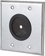 Stainless Steel Universal Grommet Wall Plate - 2 Gang - Standard