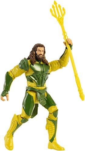 Justice League- Superhéores Figura básica Aquaman, 15 cm (Mattel FNY59)